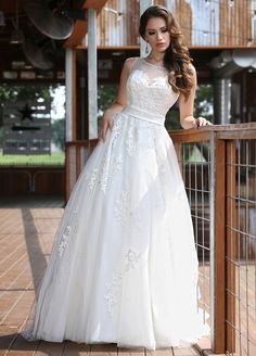 Davinci Bridal 50291 The fabric in this DaVinci Bridal Collection style is  Tulle and Lace 1b5149894138