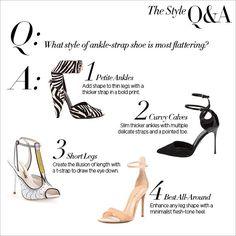 Find the perfect ankle-strap heel to flatter your legs at #ShopBAZAAR.