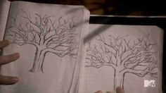 Tree drawing from teen wolf