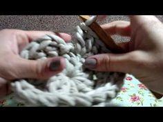 Tapete circular com fio de malha - YouTube