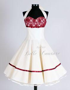 Brautkleider - Wunderschönes 50er Jahre Brautkleid Marie II kurz - ein Designerstück von atelier-belle-couture bei DaWanda