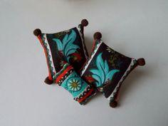 Dollhouse Deco Miniature Pillows 112 by MirandasMiniatures on Etsy, $14.50