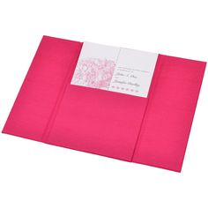"""Gatefold Silk Pocket Folios invitations. The contemporary style wedding invitation that's as stunning as it is. Measurement 4 3/4"""" x 6 3/4"""" for Invitation card 4 1/2"""" x 6 1/2"""" <br />"""