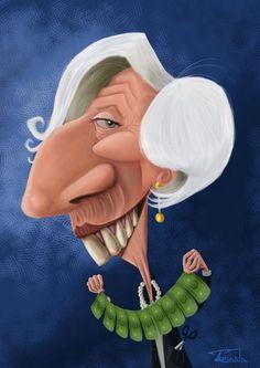 Caricature de Christine Lagarde