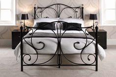 Black Iron Bed Frame | Celine Iron Detailed Black Bed Frame | Beds from FADS