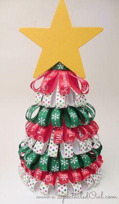 Ribbon Christmas Tree Tutorial