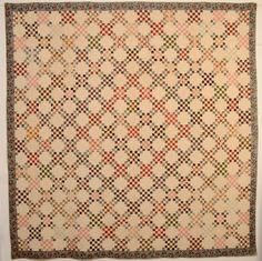 Twentyfive Patch Quilt: Circa 1830; Md., Stella Rubin