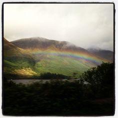 Rainbow in Scotland <3