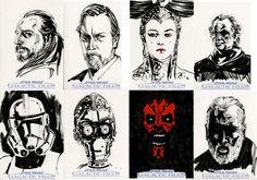 Star Wars Sketch Cards - Prequel I by clayrodery on deviantART