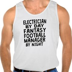 Electrician Fantasy Football Manager Tanks Tank Tops