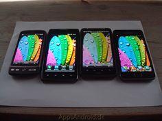From left: HTC Desire vs Motorola RAZR MAXX vs HTC Desire HD vs Samsung Galaxy S 2.