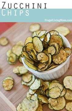 Oh MY Goodness. These zucchini chips are SO good. Full of flavor, and just a little spicy because of the pepper. Amazingly easy to make, too! Would be perfect with a homemade garlic dip.