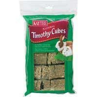 Timothy Hay Cubes 1lb 6cs, Kaytee -  • Kaytee Timothy Cubes Are Compressed Blocks Of Nutritious Sun- Cured Timothy Hay That Are Ideal As A Natural Treat For Rabbit  • High Quality Hay Aids The Natural Digestive Process Of Rabbits By Providing Fiber, Because Timothy Hay Is Lower In Calcium