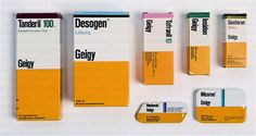 retail packaging for Geigy pharmaceuticals, design by Max Schmid (via grainedit.com)
