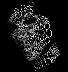 Nelly Furtado Typographic Portrait by Chee Aki, via Behance Hipster Indie, Tumblr Hipster, Nelly Furtado, Typography Portrait, Typography Poster, Typography Layout, Lettering, Text Portrait, Typographie Inspiration