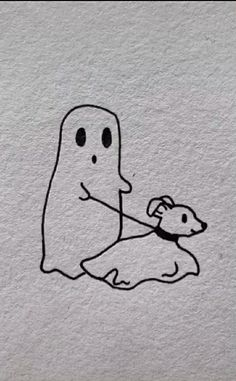 ghost with dog