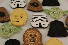 Image result for star wars decorated cookies