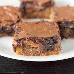 Cookie Dough Peanut Butter Brownie Bars
