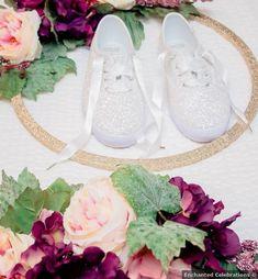 Wedding shoes - sparkle, glitter, comfortable, sneakers, vans, custom, bridal {Enchanted Celebrations}