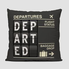 ce4d4dd2dac Departed - Throw Pillow www.airportag.com Airport Luggage