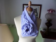Neck warmer scarf Pale Mauve colour Large by MaddisonsRainbow Mauve Color, Colour, Neck Warmer, Crochet Flowers, Accessories Shop, Handmade Crafts, Etsy Shop, Trending Outfits, Unique Jewelry