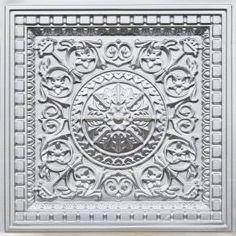 Da Vinci - Faux Tin - Coffered Ceiling Tile - Drop in - 24 in x 24 in - Faux Tin Ceiling Tiles, Tin Tiles, Tile Crafts, Ceiling Medallions, Tissue Box Covers, Beautiful, Drop, Ceilings, Scissors