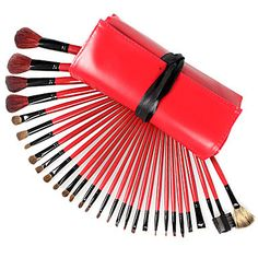 Cheap cosmetic crowns, Buy Quality brush powder directly from China cosmetic beauty Suppliers: Fashion 30 Professional Makeup Brushes Set Black Silk Animal Hair Red Bag Backage Benefit Cosmetics Brush B Benefit Cosmetics, It Cosmetics Brushes, Makeup Cosmetics, Cheap Makeup Brushes Set, Makeup Brush Set, Red Makeup Looks, Makeup Artist Kit, Cosmetic Brush Set, Makeup Box