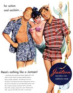 vintagegal:    1950's Jantzen swimsuit ad.....I always liked there women's line in the 60's