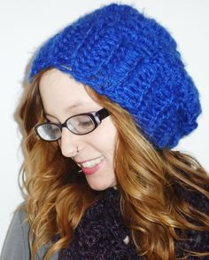 Electric blue hat