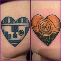 Star Wars Love! R2D2 is healed, C3PO is fresh! by Brynn Sladky, Blacklist Tattoo, Portland, Oregon. Instagram: @brynnsladky