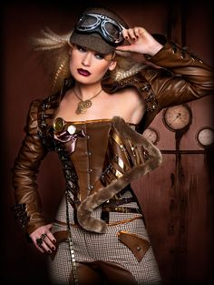 Steampunk its more than an aesthetic style, it's the longing for the past that never was. In Steampunk Girls we display professional pictures, and illustrations of Steampunk, Dieselpunk and other anachronistic 'punks. Some cosplay too! Steampunk Couture, Steampunk Design, Victorian Steampunk, Steampunk Drawing, Vintage Gothic, Gothic Art, Victorian Fashion, Steampunk Cosplay, Steampunk Clothing