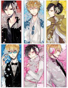 Tags: Anime, Durarara!!, Orihara Izaya, Heiwajima Shizuo, White Border, Psyche, Y.tea