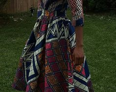Afrikaanse Print zomer Flare Hi / Lo jurk. door NanayahStudio