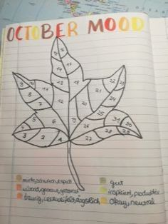 Bullet Journal Mood Tracker October 2017