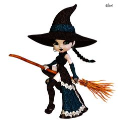 Witch In Broom
