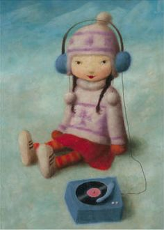 girl with record player (stephen mackey) OMG! <3