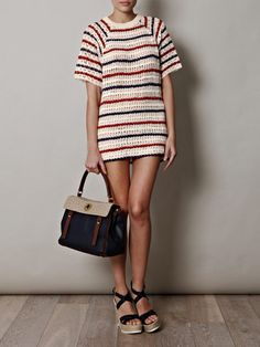 """The perfect """"frenchie"""" summer dress, classy with an edge! By Isabel Marant Etoile. Pin It To Win It: https://docs.google.com/forms/d/1-p7ci16H2KQkNgoJ9Q8HDXW3UQkf-BML8qTUVCr5HOc/viewform"""