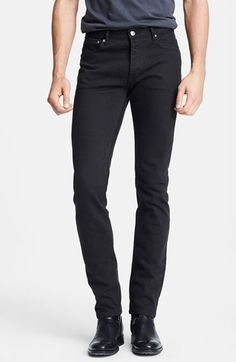 A.P.C. 'Petit Standard' Skinny Fit Jeans (Black) available at #Nordstrom