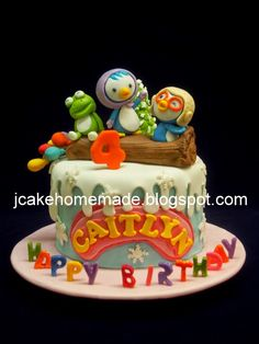 Happy birthday Caitlyn Thanks Mr Tee for order. Handcraft Pororo and friends characters; Friends Birthday Cake, Friends Cake, Happy 2nd Birthday, Birthday Cakes, Bento, Tuna, Arctic, Penguin, Cake Decorating