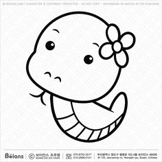 Vector Black And White Snake character sits forward. (SKU: Vector Black And White Snake character sits forward.