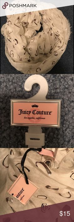 Juicy Couture Scarf Never worn. Tag is ripped in half because I had received it as a gift. Juicy Couture Accessories Scarves & Wraps