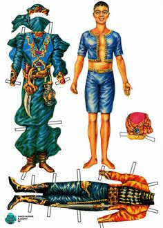 Аладдин (Alladin, Алладин, Аладин)  бумажные куклы 90 е роспечать