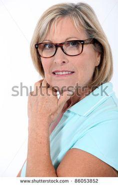 women glasses older Mature