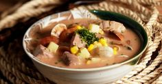 Fish, Clam and Corn Chowder Del Monte Recipes, Filipino Recipes, Filipino Food, Food Hacks, Food Tips, Sausage Casserole, Pinoy Food, Corn Chowder, Kitchens