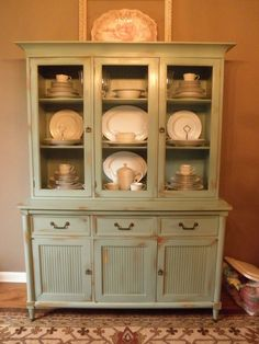refinished hutches before and after photos | so much I refinished her China hutch in it. I forgot to take before ...