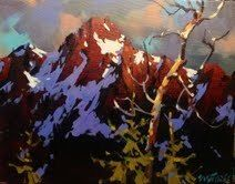 """Last light on the Tantalus by Michael O'Toole Acrylic ~ 11"""" x 14"""""""