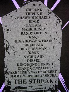 Undertaker The Streak Tombstone Wrestlemania WWE Authentic T-shirt