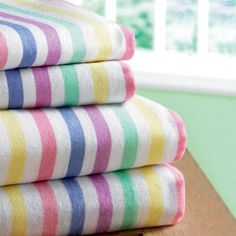 Candy-striped flannelette sheets and pillowcases are almost as popular today as they were back in my childhood. 1980s Childhood, My Childhood Memories, Flannelette Sheets, Candy Stripes, Thing 1, My Memory, Old Toys, The Good Old Days, Retro