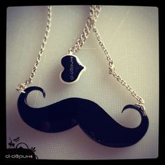 Moustache laser cut necklace by didepux on Etsy, €7.00
