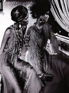 "Sizzling ""Black Allure"" In Vogue Italia February 2011"